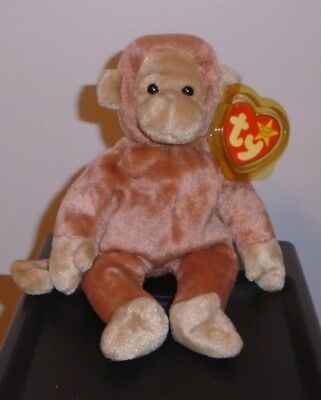 Ty Beanie Baby ~ BONGO the Monkey ~ MINT with MINT TAGS -RETIRED