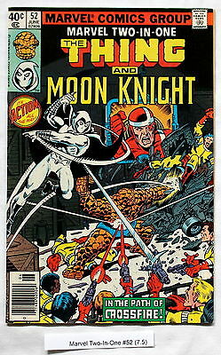 Marvel Two-In-One 52 PEREZ Moon Knight 1979 1st William Cross CROSSFIRE VF- 7.5