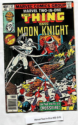 Marvel Two-In-One 52 PEREZ Moon Knight 1979 1st William Cross CROSSFIRE VGFN 5.0