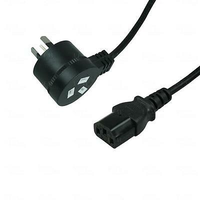 Titan AV 3m Power Extension Cord 240V/10A Piggyback IEC Kettle Cable Lead Black