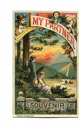 Vintage Advertising souvenir flyer MY PARTNER Theatrical Play Aldrich & Parsloe