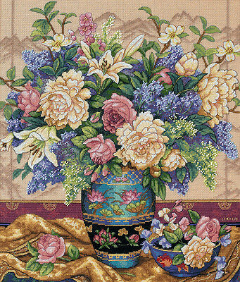 """Gold Collection Oriental Splendor Counted Cross Stitch Kit-12""""X14"""" 18 Count"""