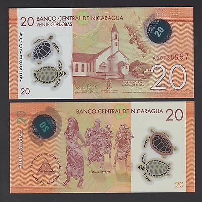 Nicaragua 20 Cordobas (2014) P-New Polymer banknote - UNC