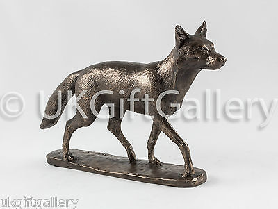 Prowling Fox Ornament by David Geenty Cast in Resin With Bronze Finish NEW (6023
