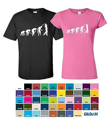 Evolution Golf Printed T-Shirts Golf Inspired Tee Club Course Green Ball Gifts