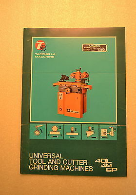 TACCHELLA MACCHINE Tool & Cutter Grinder Ammco Industrial CATALOG (JRW #040)