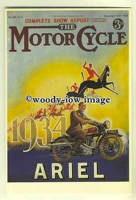 ad0028 - The Motor Cycle Magazine , Ariel Motorcycle - modern advert postcard