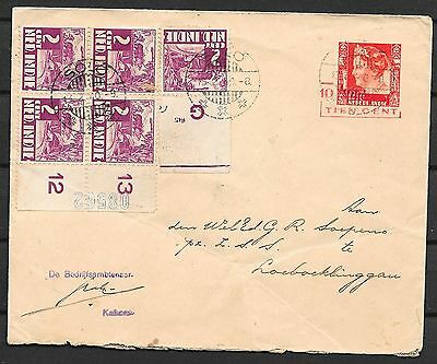 Netherlands Indies covers 1940 uprated cover SOLO to Loeboeklinggau