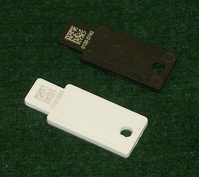 2 New Yubico Yubikey Standard - 1 White, 1 Black - USB Hardware Authentication