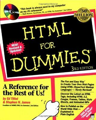 HTML 3 For Dummies by James, Stephen J. Paperback Book The Cheap Fast Free Post