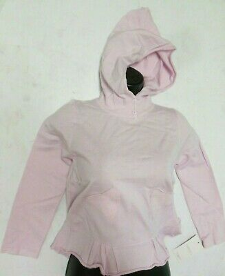 NWT Capezio Pixie Pullover Sweater Ruffle Hoodie Ballet Coverup Pink CK10795
