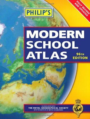Philip's Modern School Atlas, VARIOUS Paperback Book The Cheap Fast Free Post