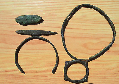 Medieval Period parts of  bracelets and hryvnia