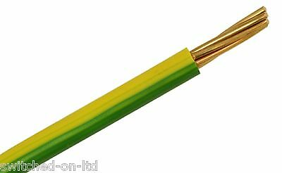 Earth Green Yellow 10mm Single Core 6491X Per Meter Earthing Bonding Cable