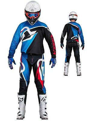 Maglia Pantaloni Cross Enduro Acerbis Mx Profile Nero Blu Ross 2016 Tg 36(52) Xl
