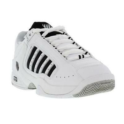 K-Swiss Defier Rs Mens Leather Tennis Trainers Shoes White Black
