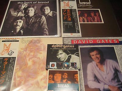 Bread Limited Edition Collection Of Japan & Audiophile Lp's + Gates Lp & Cd Sets