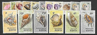 Kenya Sg36/52 1971 Set Of Shells Mtd Mint