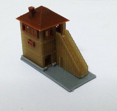 Outland Models Train Railway Layout Wood Style Signal Tower / Watchtower Z Gauge