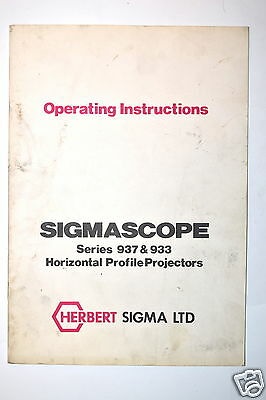 HERBERT SIGMA INSTRUCTIONS Manaul SIGMASCOPE 937 & 933 Profile  PROJECTORS RR680