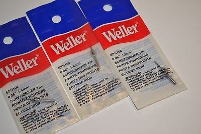 3 NEW WELLER USA Model EPH106 Screwdriver SOLDERING IRON TIPS Retail $41.10