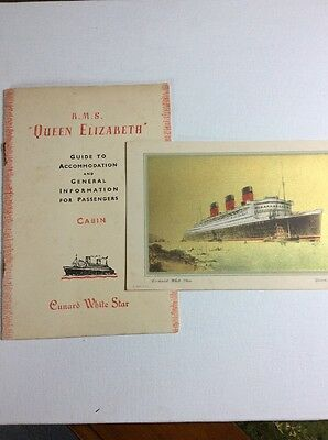 Cunard White Star RMS QUEEN MARY guide & General info for cabin passengers 1947