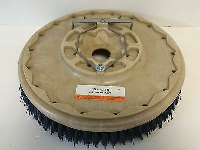 """Genuine New Cat 15"""" Disc Scrub Brush 15-421C .035 Grit With Plate"""