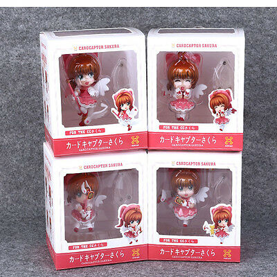 4PCS Japan Anime Card Captor Sakura Kinomoto Sakura Figure Cosplay New in Box