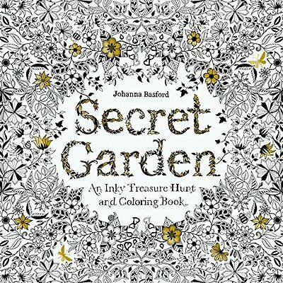 Secret Garden An Inky Treasure Hunt and Colouring Book - Paperback - New