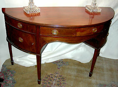 First half 20th Century Mahogany demi-lune - sideboard - WILLING TO DELIVER!