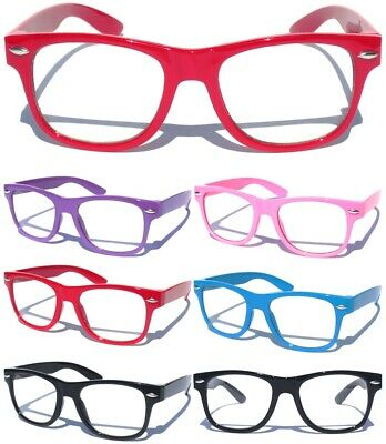 SMALL KID CHILD SIZE CLEAR LENS GLASSES Nerd Hipster Boys Girls Nerd Color Frame