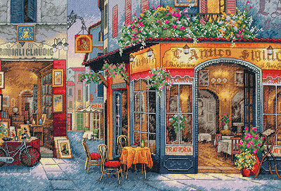 """Gold Collection European Bistro Counted Cross Stitch Kit-16""""X11"""" 16 Count"""