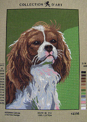 KING CHARLES SPANIEL Needlepoint Tapestry Canvas