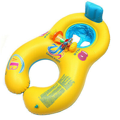New Inflatable Safe Float Swim Play Ring Pool Toy Water Sport for Baby Parent