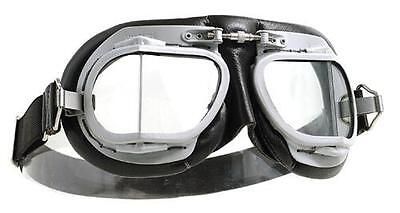 Halcyon Mark 9 Superjet Motorcycle Goggles Classic Vintage Brown