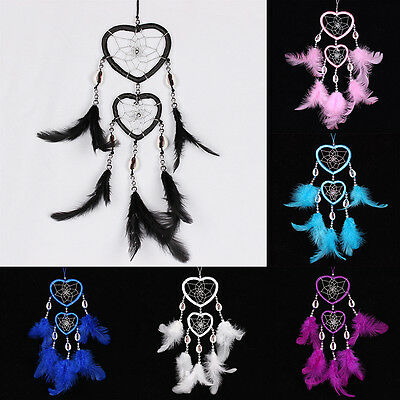 Handmade Dream Catcher with Large Feathers Cars Wall Hanging Decoration Ornament