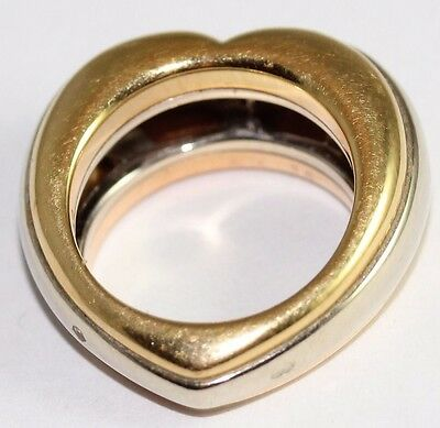 Cartier 18ct Yellow, White and Rose Gold Heart Ring