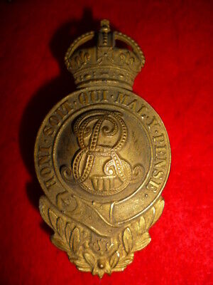 Edward VII Gilt British / Colonial / NWMP Officer's Martingale Badge with wreath