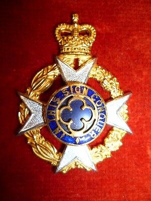 Royal Army Chaplain's Department QC Officer's S.G. & Enamel Cap Badge