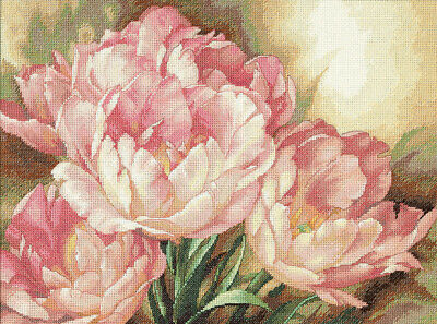 """Gold Collection Tulip Trio Counted Cross Stitch Kit-16""""X12"""" 14 Count"""