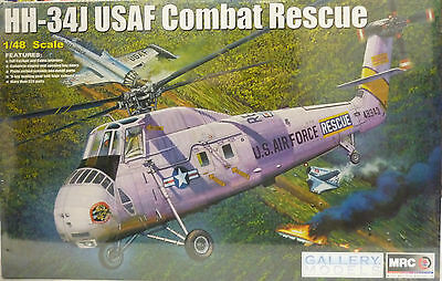 MRC Gallery Models 1/48 HH-34J UASF Choctaw Combat Rescue Helicopter Kit