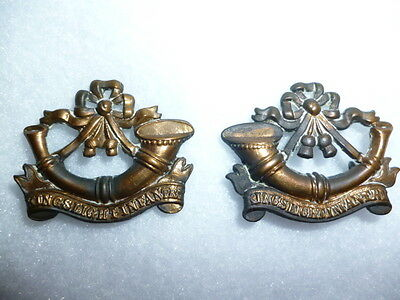 Rare King's Shropshire Light Infantry 1881-82 Collar Badge Pair, Churchill 1417