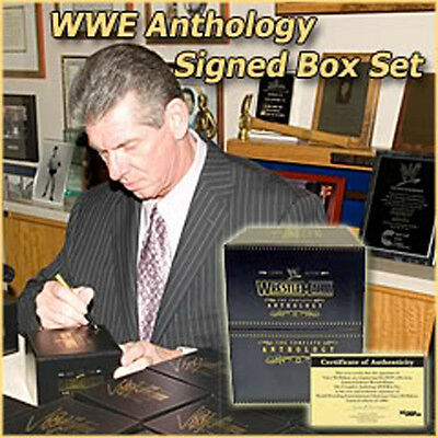 Wwe Vince Mcmahon Hand Signed Wrestlemania Anthology Box Set With Coa + More