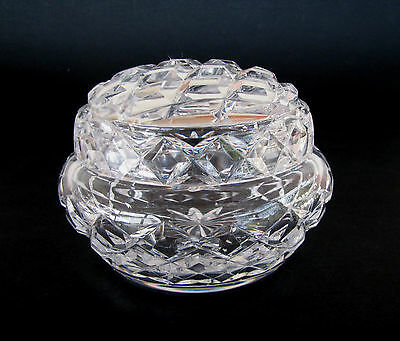 Vintage Crystal Trinket / Jewellery Box Bowl For the Dressing Table #2
