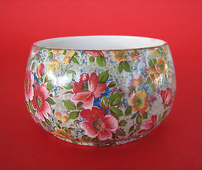 Vintage Lord Nelson England Sugar Bowl Basin All Over Floral - Briar Rose
