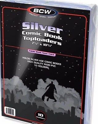 20 Crystal Clear Rigid Silver Comic Toploader Holder  BCW Book Display  NEW