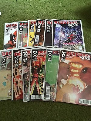 Deadpool Max #1-12 Full Set Run Lot Marvel Comics Deadpool Baker Lapham