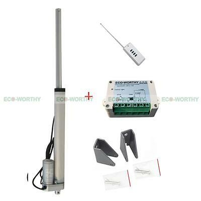 "14"" 12V Heavy Duty Linear Actuator+Wireless Remote Controller for Lifting Lever"