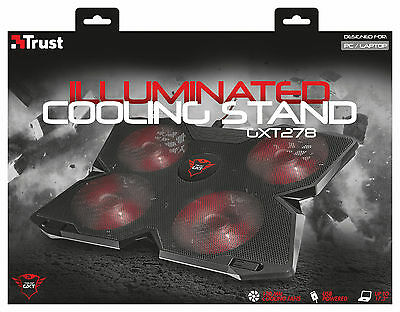 "Trust 20817 Gxt278 Cooling Stand For Laptops Up To 17.3"" Screen, 3 Yr Warranty"