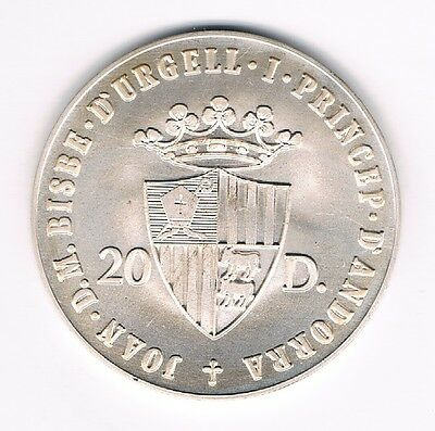 Andorra 20 Diners 1988 Olympia Seoul Stadion Silber   (Box 31)